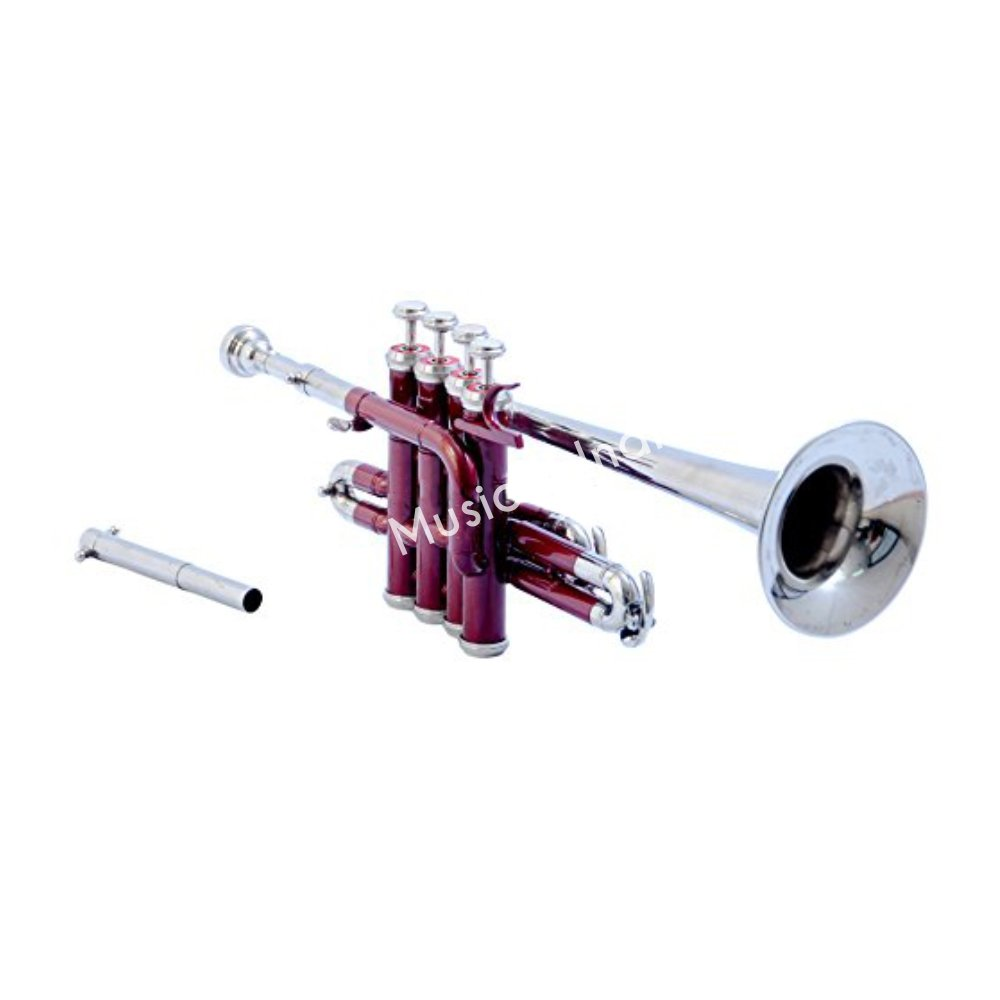 Sai Musical India PiTr-02, Piccolo Trumpet, Bb, Red and Nickel by Sai Musical India