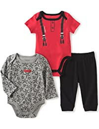 Baby Boys' Solid and Print Bodysuit with Pants Set