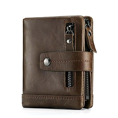 Fashion Genuine Leather Women Wallet Female Lady Mini Zipper Coin Purse And Small Walet Portomonee Money Bag Coffee