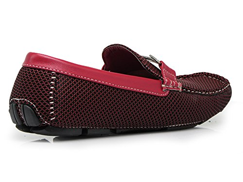 Moccasins Light Slip Casual Men's Loafer Shoes Red Romeo On Enzo Driving Weight Payne04 IHwq0WWC4