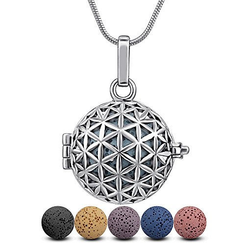 Lava Stone Diffuser Necklace Aromatherapy Essential Oil Infu