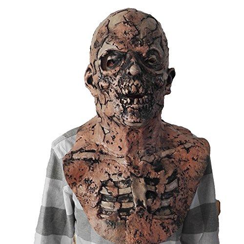 Resident Evil, Rotten Zombie Latex Mask, Thriller Halloween Horror Mask, Carnival Costume Accessories (Gray)