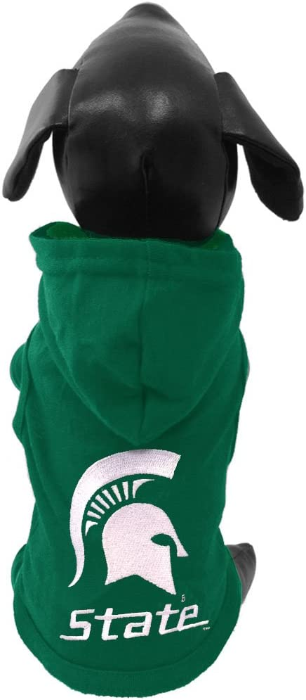 NCAA Michigan State Spartans Cotton Lycra Hooded Dog Shirt
