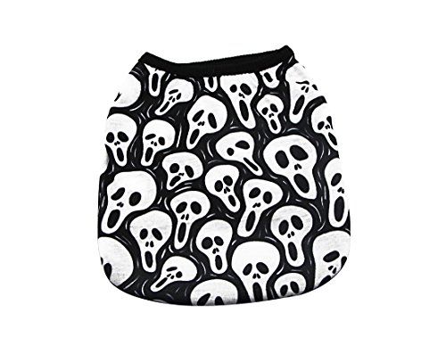 - YAODHAOD Dog Fashion T-Shirt, Screaming Ghost Vest, Spring and Summer Pet Clothes Puppy Cat Pet Clothes (S, 1)