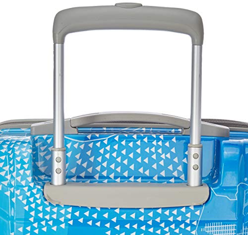 51z1CKQOnEL Skybags Trooper 55 Cms Polycarbonate Blue Hardsided Cabin Luggage