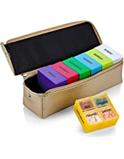 7 Day Pill Organizer - Daily Pill Planner Detachable Case with Four Compartments Pills & Vitamins Holder for Each Day of The Week, Travel Medication Reminder, Morning, Afternoon, Evening, Bed