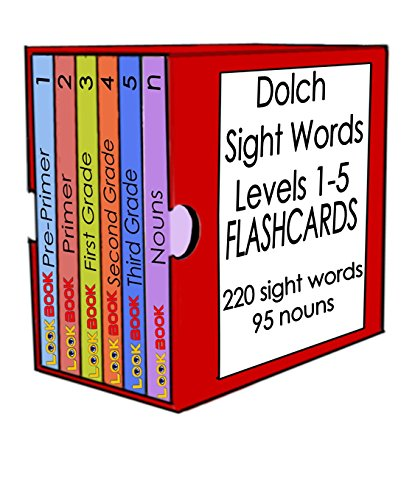 Dolch Sight Words Flashcards Set: Levels 1 - 5 plus Dolch Nouns (LOOK BOOK Dolch Sight Words Series) - Dolch Readers