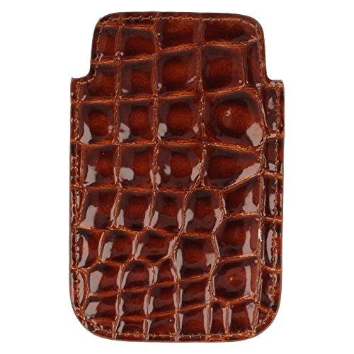 Housses Patent Marron Portable Bulaggi Croc Effet De Téléphone HwOEAqOt