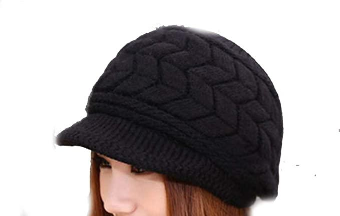 25b239ee6 Amazon.com: 2018 Winter New Fashion Newsboy Caps Women Winter Warm ...