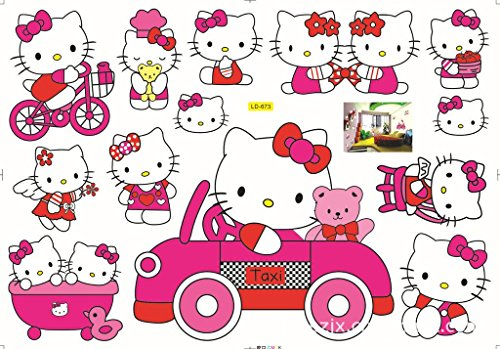 Blocksco Hello Kitty Removable Kids Room Wall Sticker Home Decor -