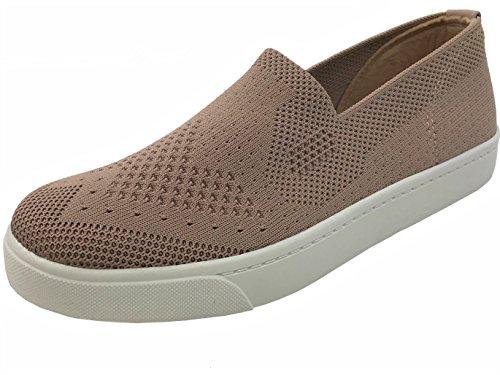 Soda Slip On Sneakers In Tessuto Elastico Scarpe Comode Chiusura A Punta Chiusa Color Malva