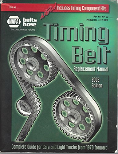 Timing Belt Replacement Manual 2002 Edition; (NAPA)complete Guide For Cars And