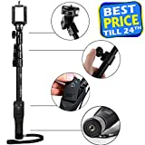 Yunteng YT-1288 Bluetooth Selfie Stick for Smartphones, Action Camera and Digital Camera - Black