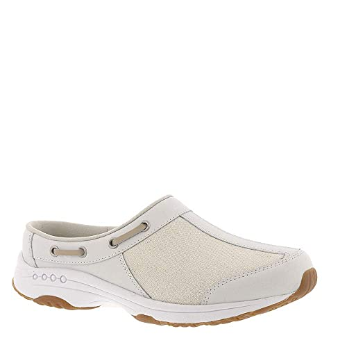 Leather Canvas Clogs, Offwhite Ivory