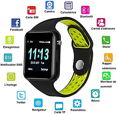 JDTECK Huawei Y635 Watch Connected, Smartwatch TF (Micro SD ...