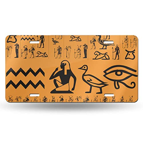 NLXZD Ancient Egypt Clipart Novelty License Plate American Vehicle License Plate ()