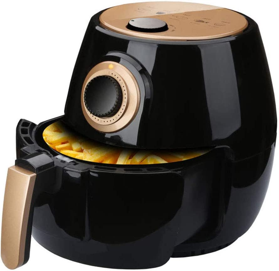 JXJ Electric Hot Air Fryers for Healthy Oil Free or Low Fat Cooking, with Automatic Timer & Temperature Control, with Rapid Air Circulation System, Black, 4.5l, 1350-watt