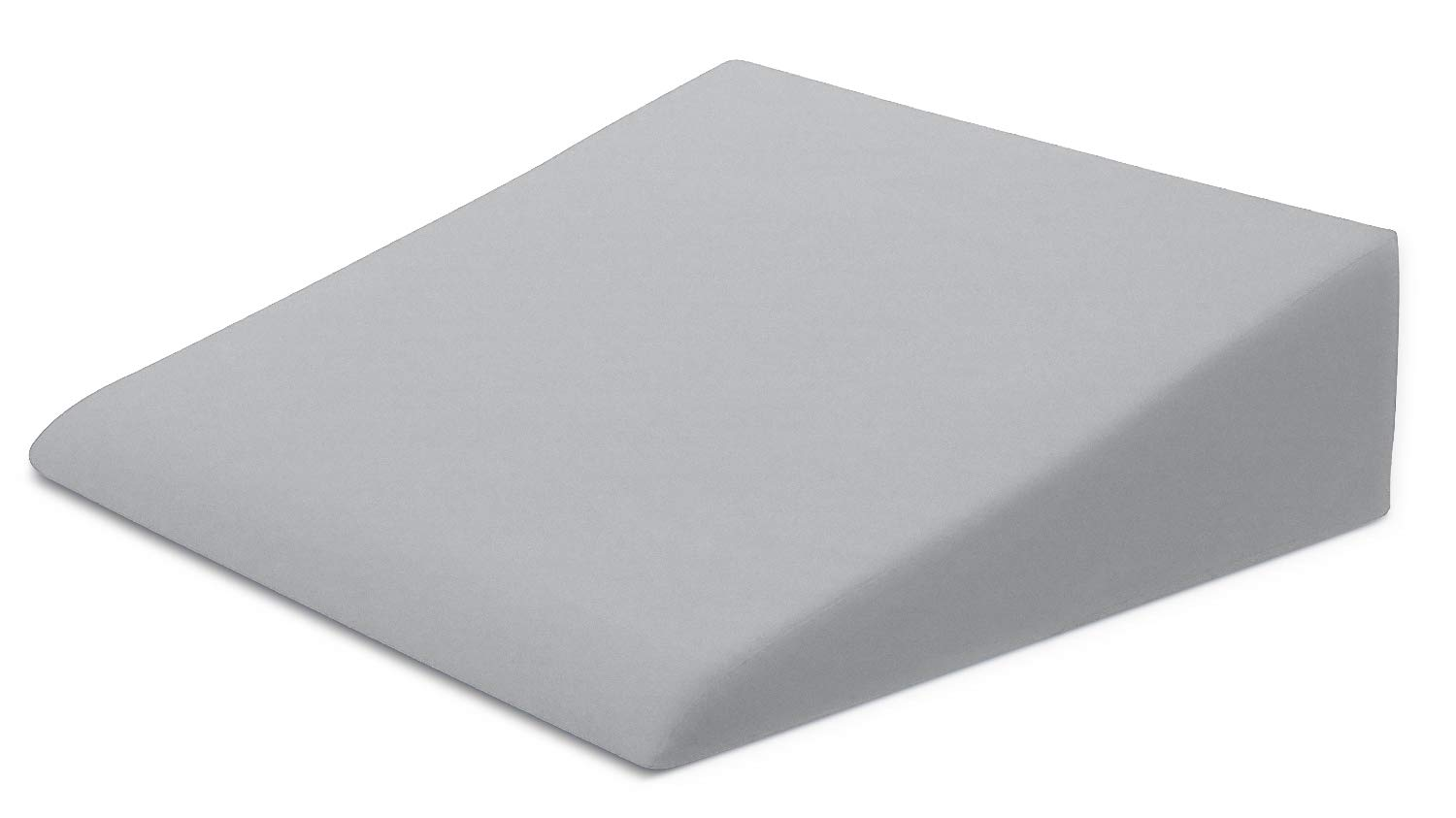 Xtreme Comforts Hypoallergenic Memory Foam Bed Wedge Microfiber Cover Designed to Fit Our (27 'x 25'' x 7'') Bed Wedge Pillow (Light Gray)