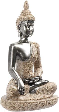 LBYLYH - Figura decorativa para el hogar, estatua de Buda, estatua de jardín, piedra arenisca de Tailandia, buda, escultura de meditación en miniatura para decoración del hogar: Amazon.es: Hogar