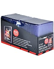 """Ultra Pro UP83648 3"""" x 4"""" Toploaders and Clear Sleeves for Collectible Trading Cards (Includes 100 toploaders and 100 Sleeves)"""