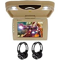 Rockville RVD13HD-BG 13 Flip Down Car Monitor w DVD/HDMI/USB/SD/Games+Headsets