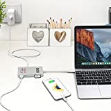 USB-C-HUB-Adapter-5-Port-USB-31-30-Type-C-HUB-USB-C-Power-Delivery-for-Charging-Gigabit-HDMI-Ultra-4K-HDTV-SD-Card-Reader-05ft-Data-Cable-for-New-Apple-Macbook-2016-Pro-Mac-PC-Laptop-Silver