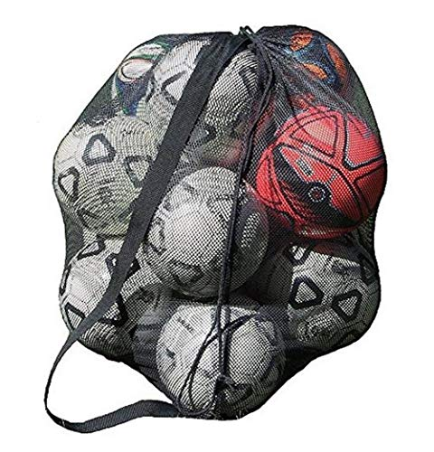 700cd397f9 YJZQ Extra Large Waterproof Mesh Equipment Duffel Bag Heavy Duty Net Ball  Shoulder Bag Basketball Volleyball Soccer Rug Ball Football Carrying Bag  Tote ...