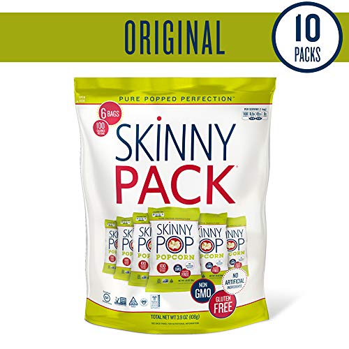 SKINNYPOP Original Popped Popcorn, Skinny Pack, Individual Bags, Gluten Free Popcorn, Non-GMO, No Artificial Ingredients, A Delicious Source of Fiber, 3.9 Ounce (Pack of 10) by SkinnyPop (Image #9)