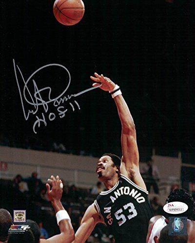 Artis Gilmore Autographed San Antonio Spurs 8x10 Photo HOF Hook Shot JSA ()