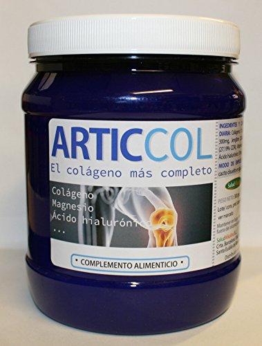 ARTICCOL 300 Grs Colágeno enriquecido con Magnesio, Ácido hialurónico,MSM Cúrcuma y Jengibre