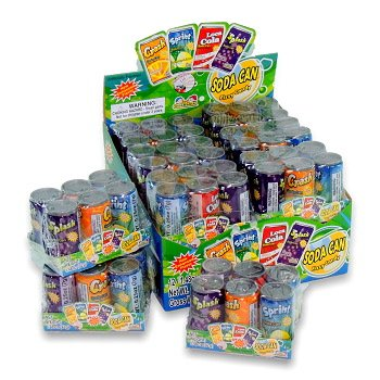 Kidsmania Soda Can Fizzy Candy 12Ct 2 UNIT PACK