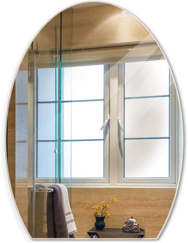 A-IF Espejo De Pared Pared-Montado Baño Espejo De Maquillaje Sin Marco Espejo Lavable con Corte De Cristal, 45 * 60Cm: Amazon.es: Hogar