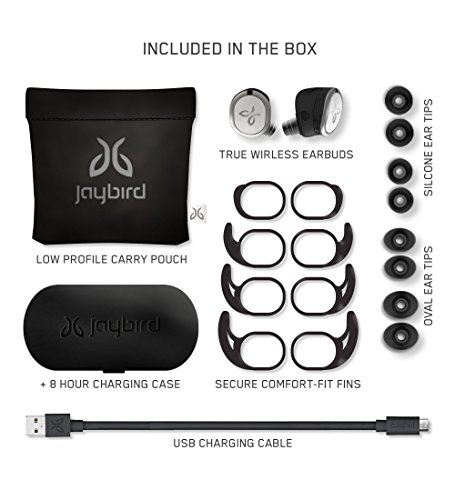 Jaybird RUN True Wireless Headphones for Running, Secure Fit, Sweat-Proof and Water Resistant, Custom Sound, 12 Hours In… |