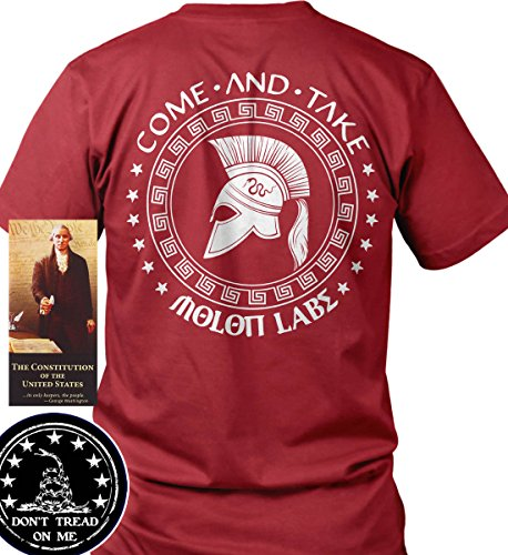 Sons of Libery Come and Take - Molon Labe Spartan Red/2XL T-Shirt. Made in. by Sons Of Liberty