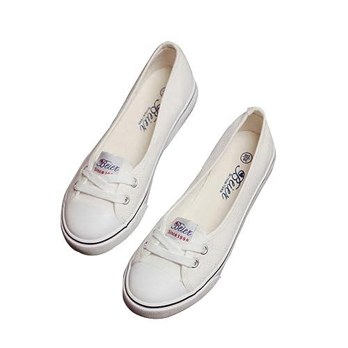 Mujer Retro Zapatos Moda Zapatos de Lona Conducir Mocasines Zapatos con Cordones Ocio Bombas Zapatos Perezosos Tamaño 35-40: Amazon.es: Zapatos y ...