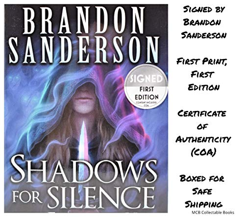Forest Signed - Shadows for Silence In the Forest of Hell/Perfect State AUTOGRAPHED by Brandon Sanderson (SIGNED BOOK) COA 5180