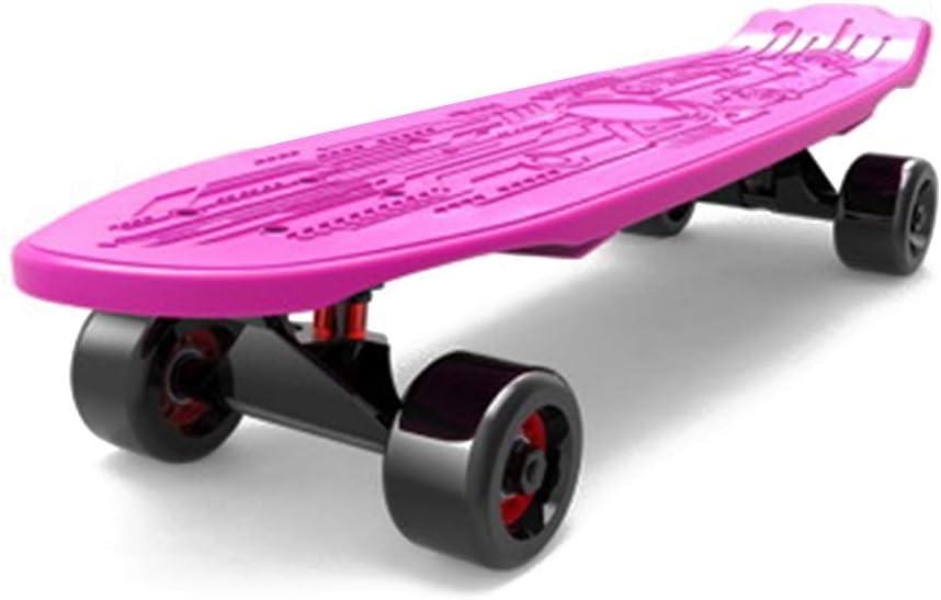 WWWANG Retro cubierta completa del crucero de la tarjeta plástica del patinador del patín patinaje multicolor ABEC disponible en varios colores Deck y colores de la rueda, 68cm (Color : Yellow)