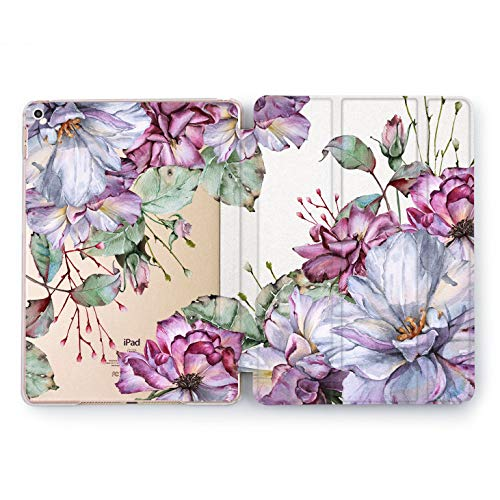 Wonder Wild Pink Bellis iPad Cover Pro 9.7 inch Pink Flowers Mini 2 3 4 Bright Floral Print Air 10.5 12.9 Apple Smart Stand Case Bright 5th 6th Generation Design 2017 2018 Watercolor Gentle Organic