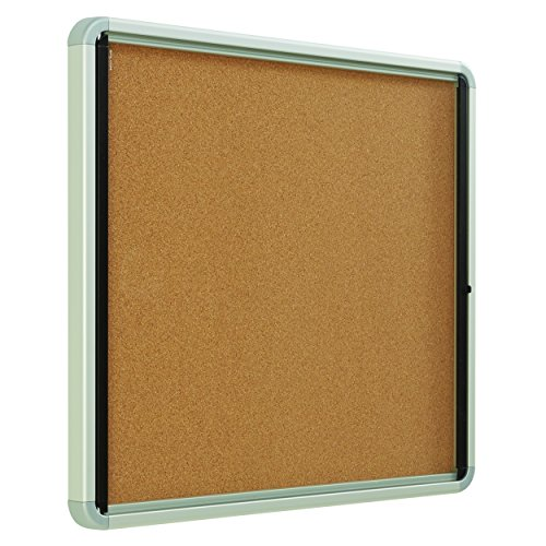 Quartet Enclosed Cork Bulletin Board, 30