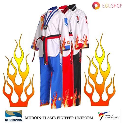 Flame Fire Taekwondo Fighter Uniform WTF Poom TKD Dobok Martial Arts Suits MMA – DiZiSports Store