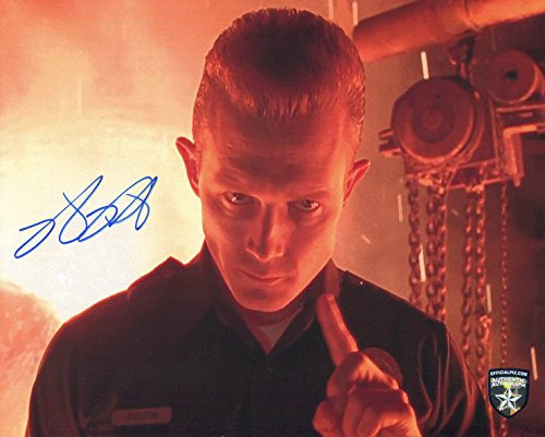 Robert Patrick Signed / Autographed T-1000 Terminator 8x10 Glossy photo Photo. Includes Official Pix Certification and Cataloged number. Entertainment Autograph Original. Schwarzenegger