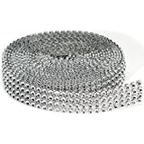 Darice 4-Rows Bling on a Roll, 3mm x 3-Yard, Silver