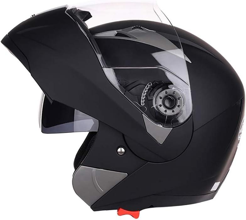 XL Folconauto Motorcycle Scooter Helmet,Approved Full Face Crash Chopper Motorbike Helmet with Sun Visor Matte Black /¡/¡