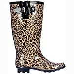 Flat Festival Wellies Knee High Rain Boots Leopard US 5