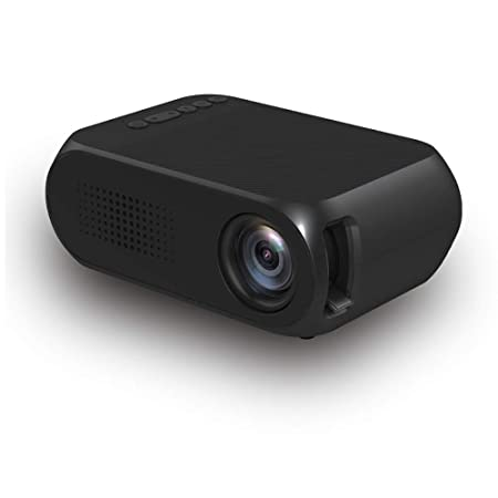 HLKYB Proyector portátil, proyector de vídeo LED, Soporte ...