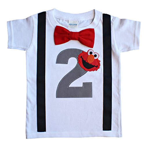 2nd Birthday Shirt Boys Elmo Tee