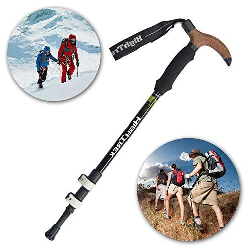 DASGF Carbon 3 Section External Lock T Handle Trekking Pole,Portable Trail Cane for Walking,55-110Cm, 3 Section…