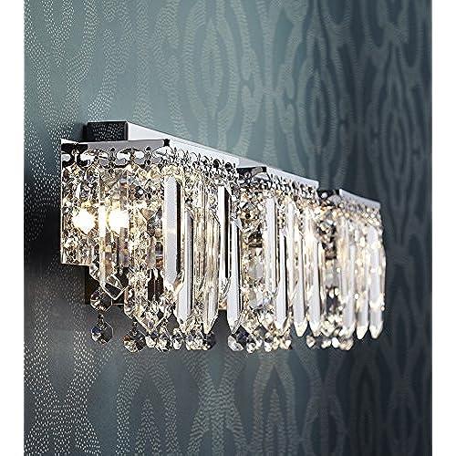 70off Possini Euro Design Crystal Strand 25 34 Wide Bath Light