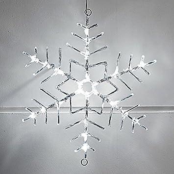 Weihnachtsdeko Aus Acryl.Led Acryl Schneeflocke Weihnachtsdeko 40cm Innen Außen Lights4fun
