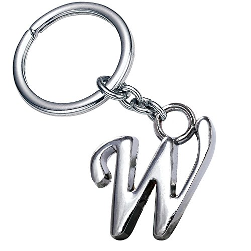 Stylish Letter W Simple Alphabet Key Ring Creative Packaging Design Box Z-343
